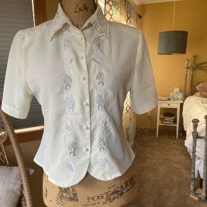 Yves St. Clair Petites Short Sleeved Blouse